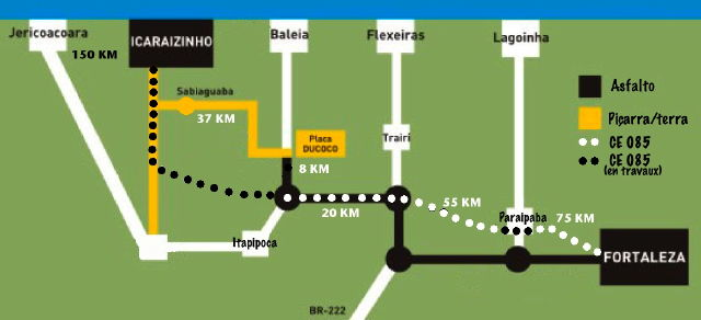 itinéraire icaraizinho