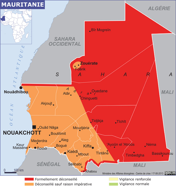 risque terroriste en Mauritanie
